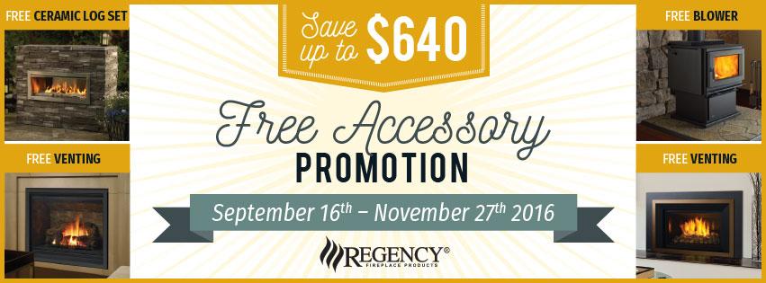 Regency Fireplace Free Accessory Sale
