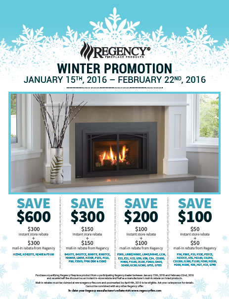 Regency Winter Fireplace Promotion